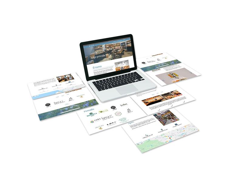Izrada prezentacijske stranice za trgovine s prirodnom kozmetikom